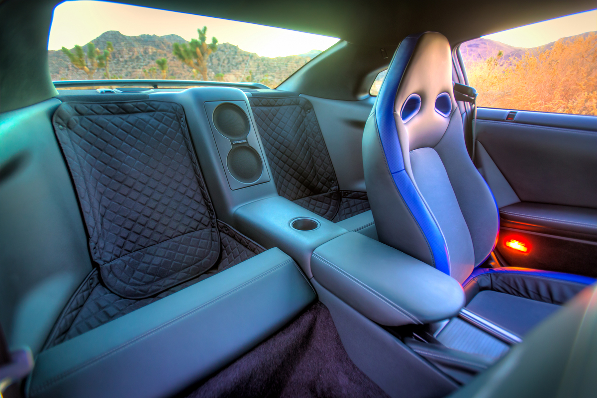 Backseat in the 2014 GT-R Track Edition