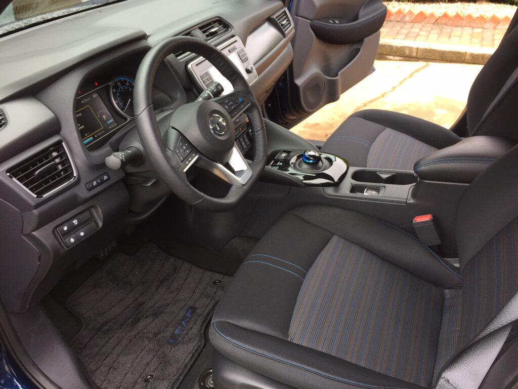 The Leaf EV interior