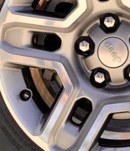 Special Jeep logo valve-stem caps