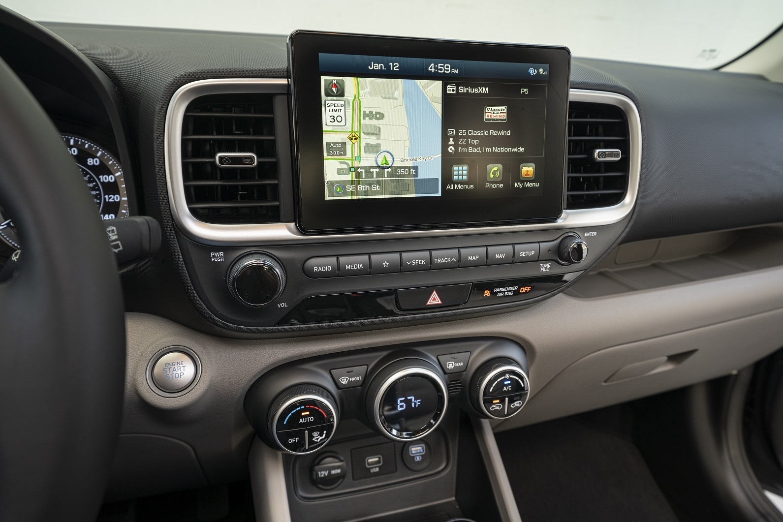The infotainment touch screen