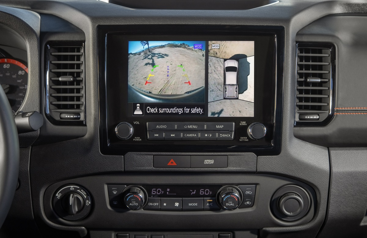 The AroundView camera system in the Nissan Frontier