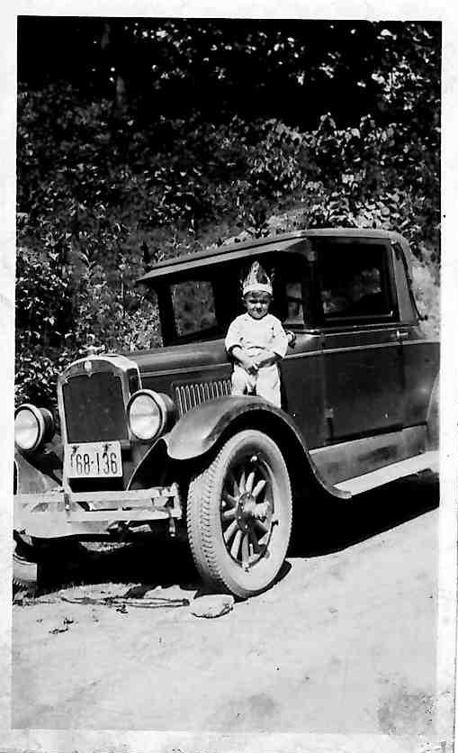 A 1927 Peerless automobile.