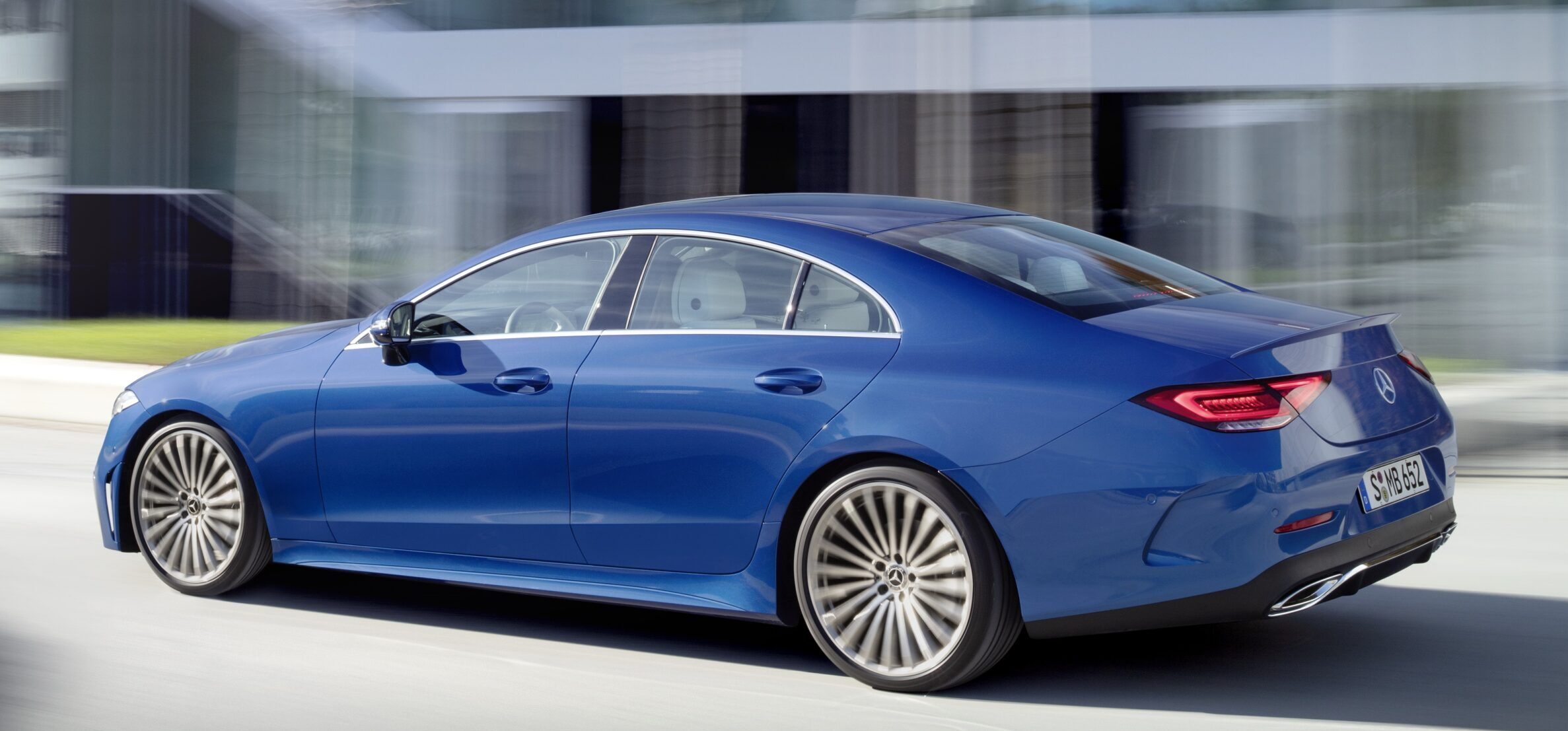 2022 Mercedes-Benz CLS coupe-sedan side view.
