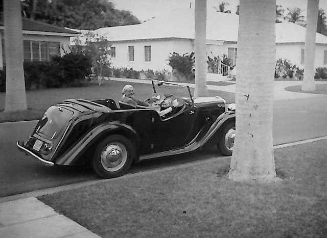 A 1950 MG Y Type.