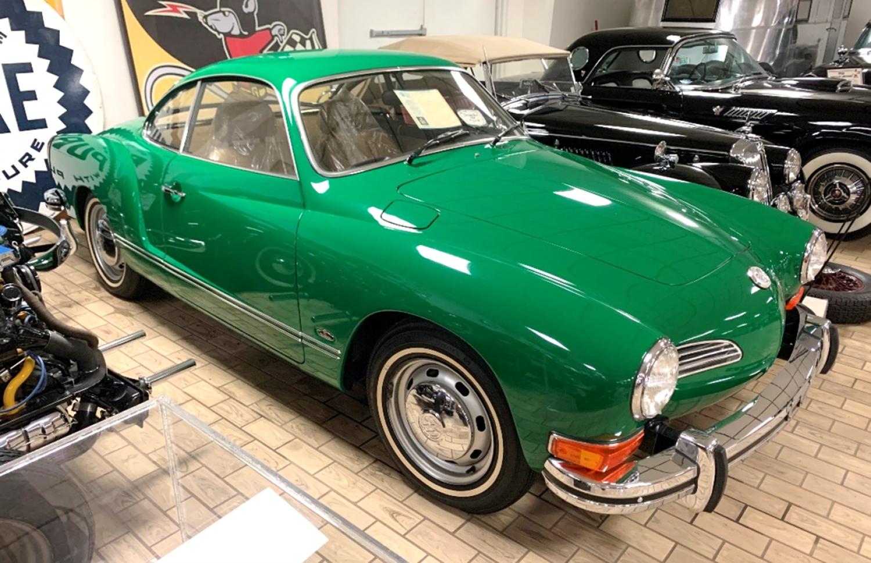 A 1974 Karmann Ghia.
