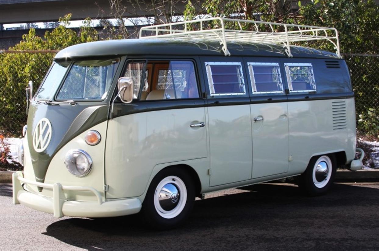 A 1967 Type 2 double-door camper.
