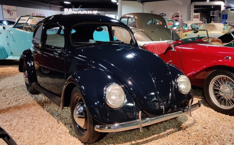 A restored 1947 Volkswagen Type II Limousine.