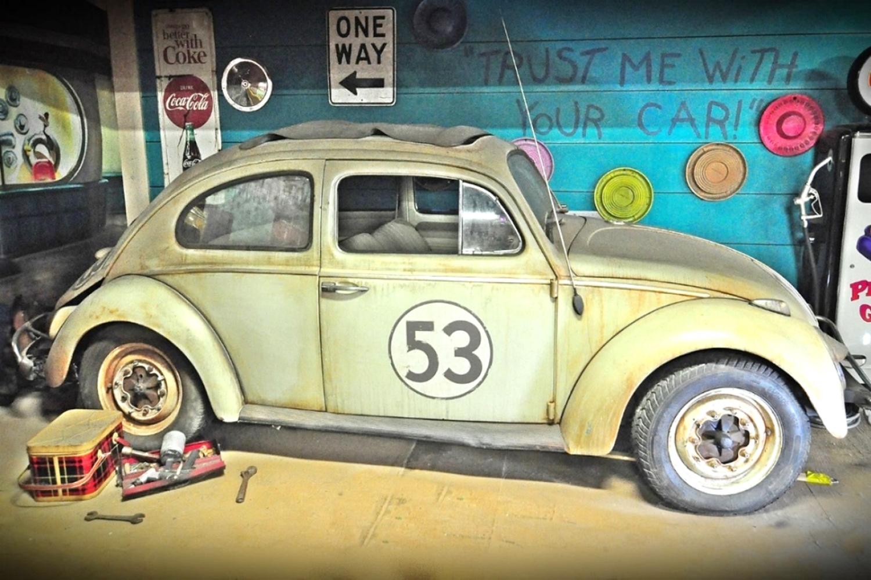 """The animatronic 1963 Volkswagen Beetle, """"Herbie"""""""