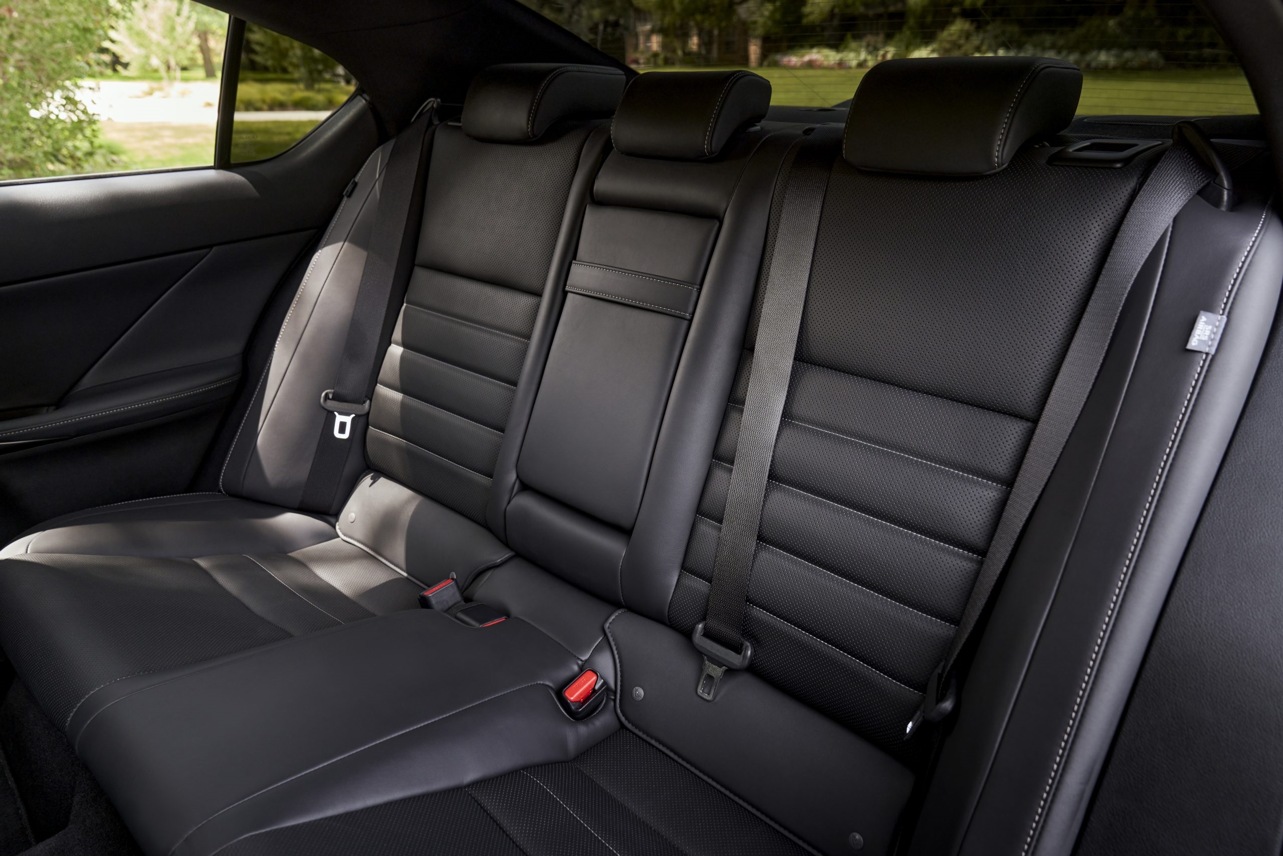 The back seats in the 2021 Lexus IS 350 F Sport