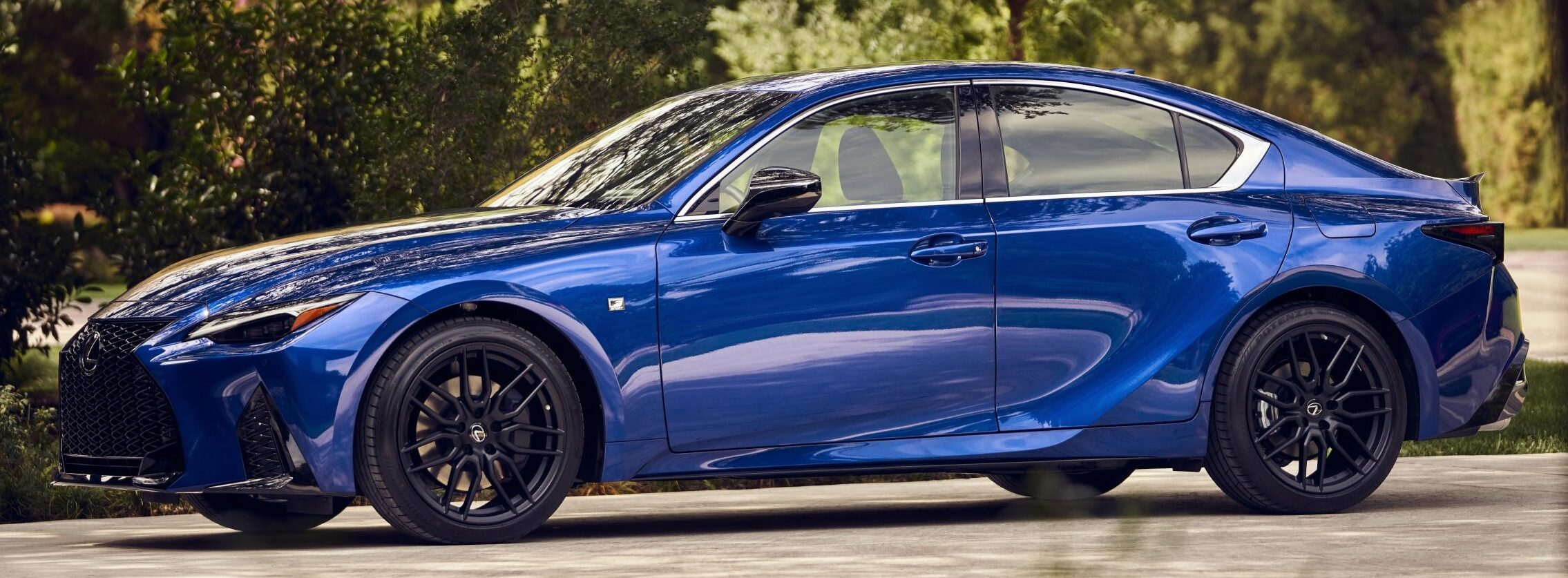 A side view of the Lexus IS 350 F Sport