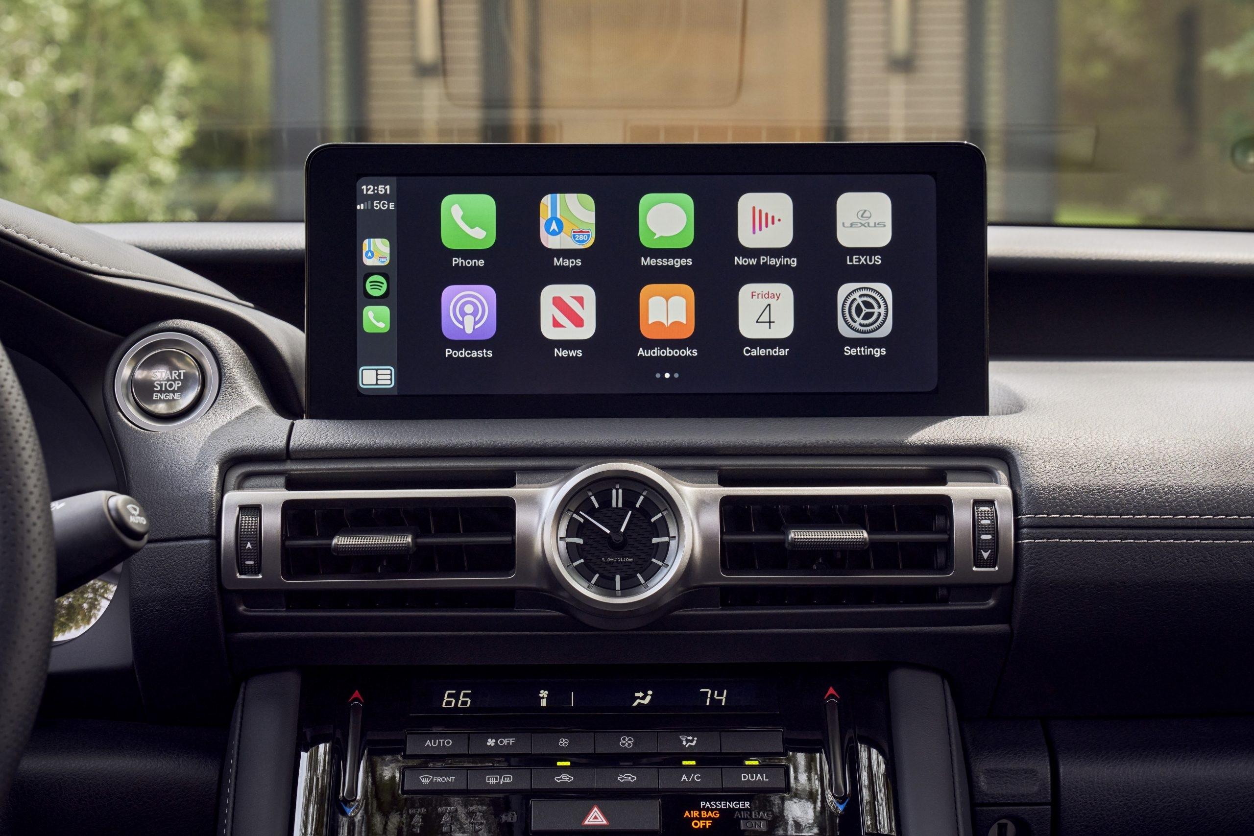 2021 Lexus IS 350 F Sport infotainment screen.