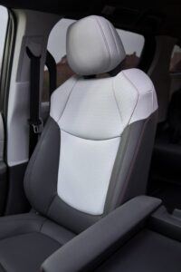 2021 Toyota Sienna Softex trimmed seat upholstery.