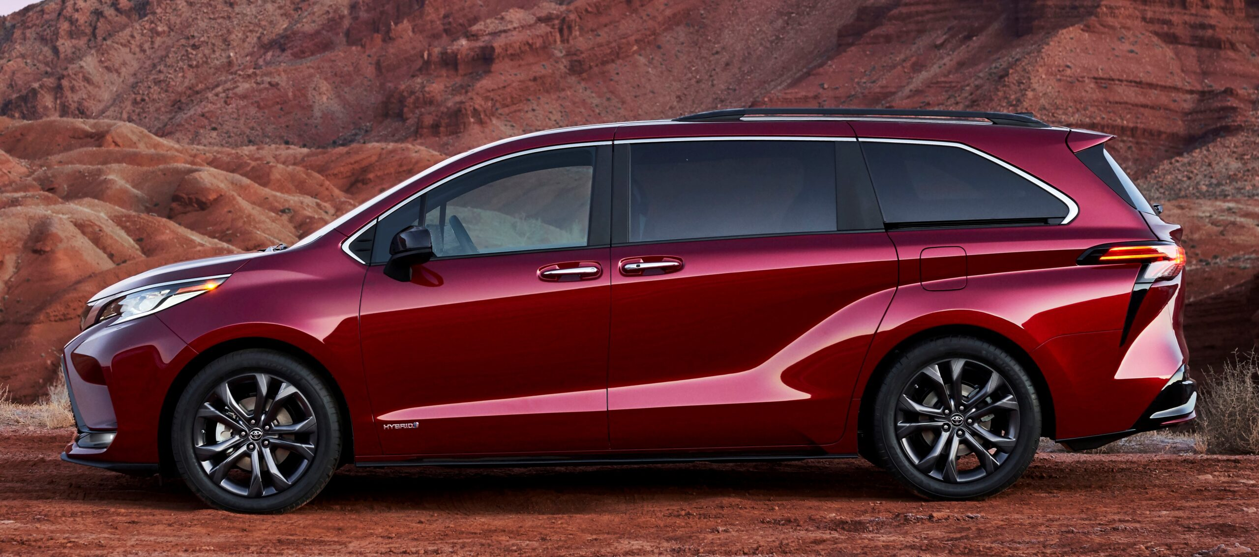 A side view of the new Sienna minivan