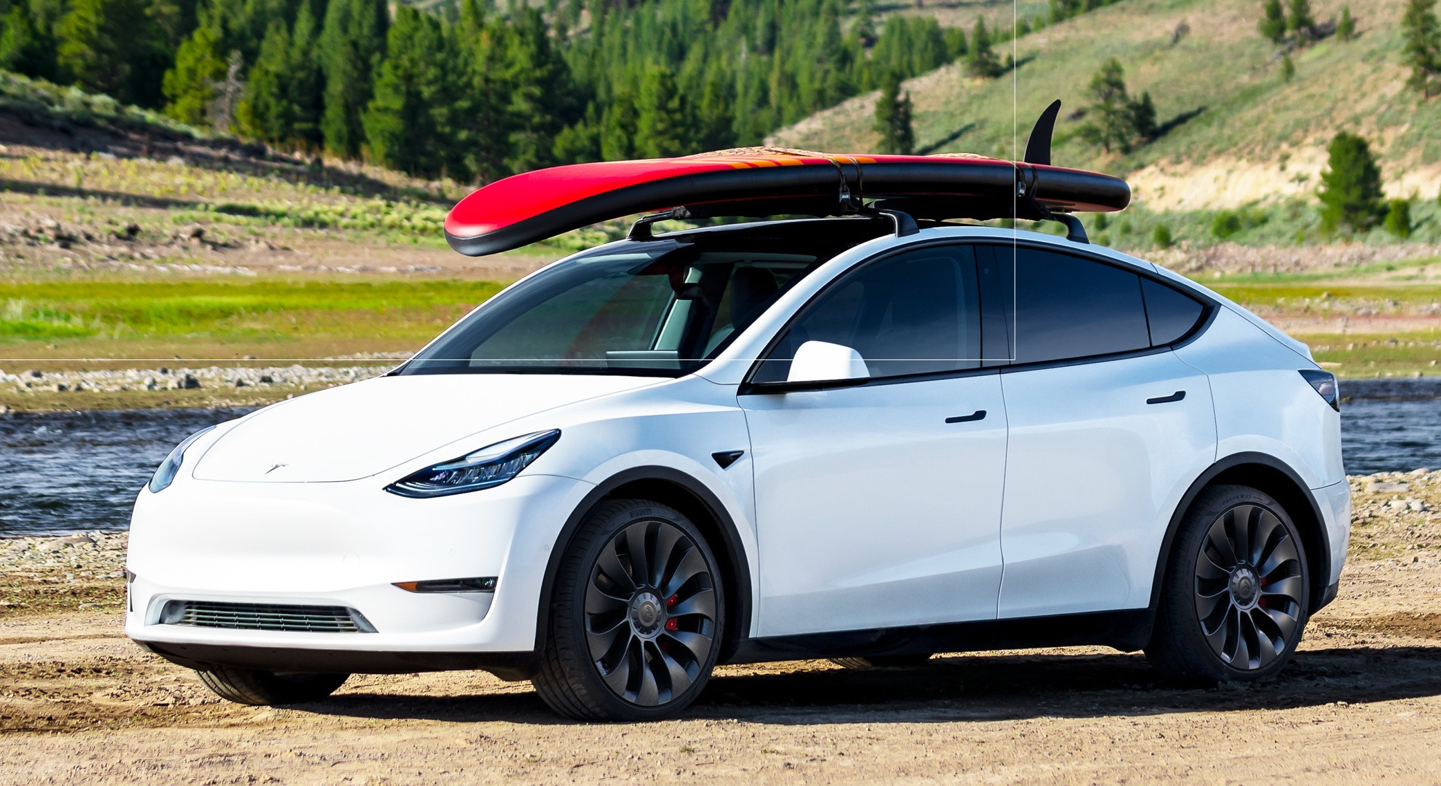 The 2020 Tesla Model Y long range EV SUV earned the overall top score in the 2021 AAA Car Guide