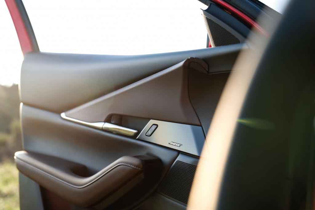 Interior detail in the door panel of the Mazda CX-30