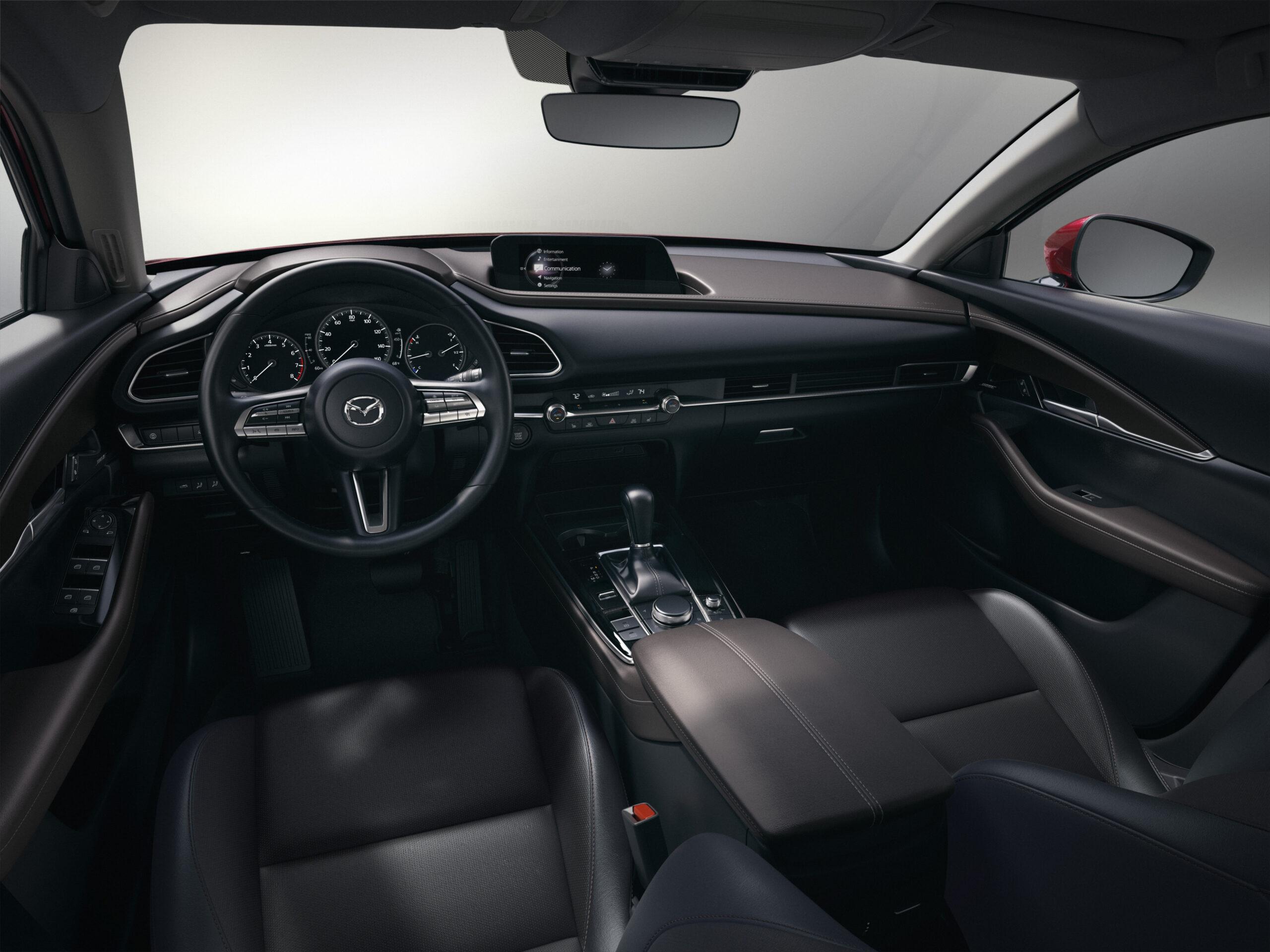 Interior of the Mazda CX-30