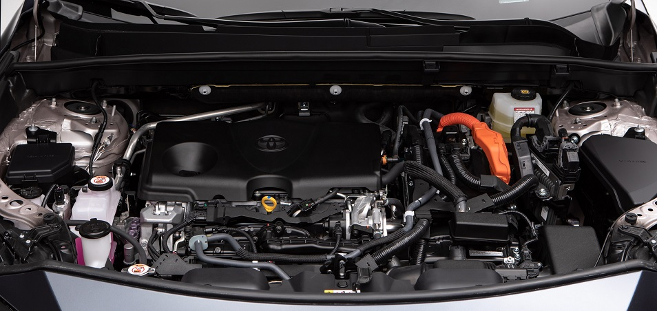 The hybrid engine system in the Venza