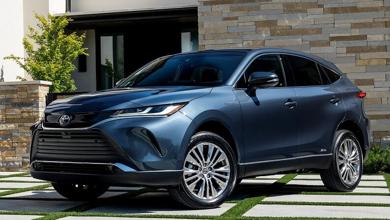 An exterior view of the 2021 Toyota Venza