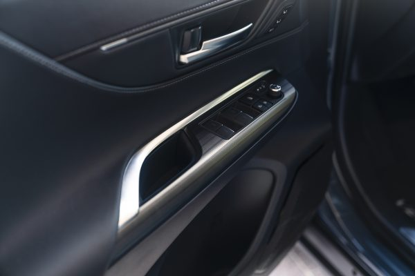A door panel in the Venza shows quality materials and assembly