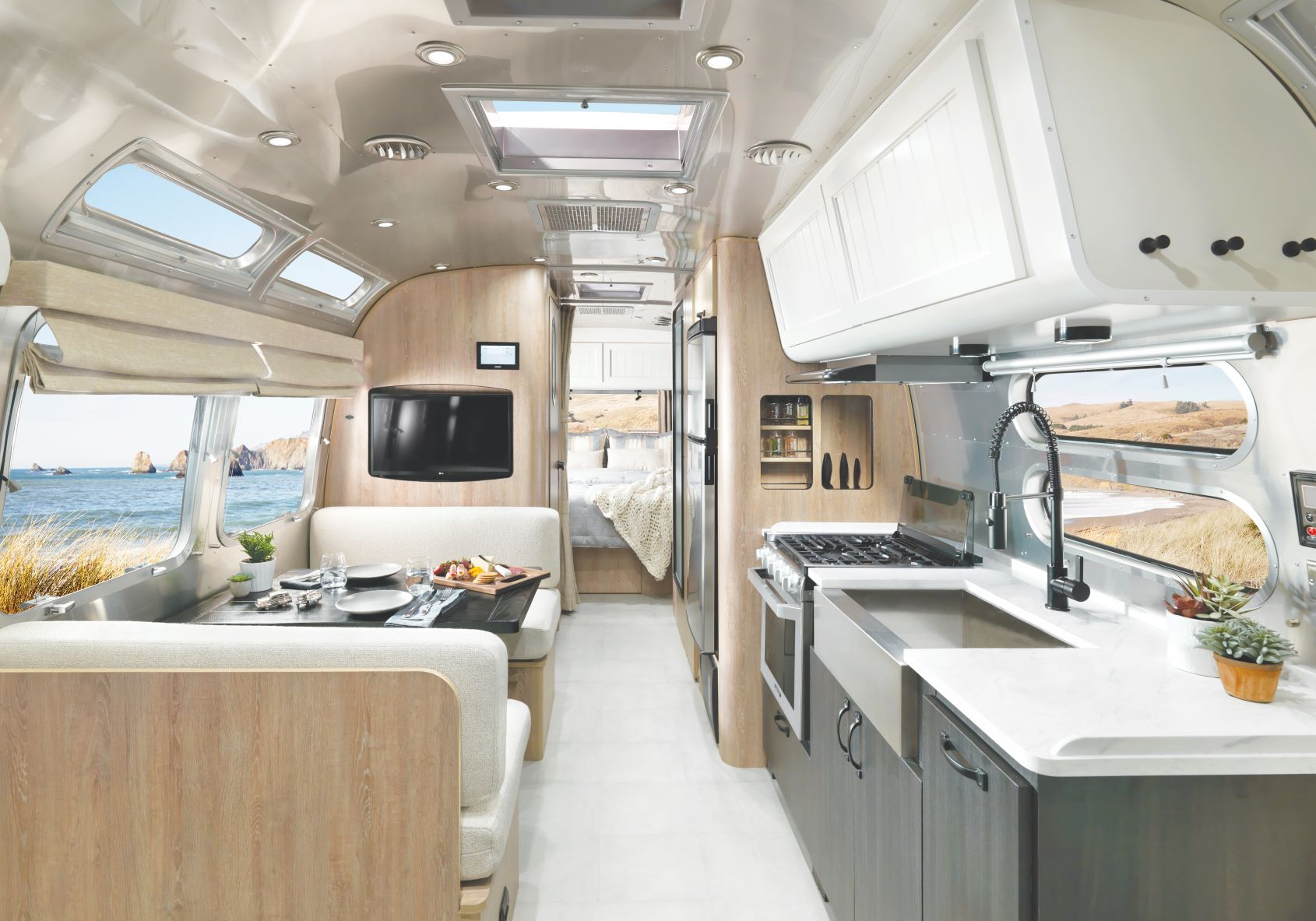 The Airstream galley