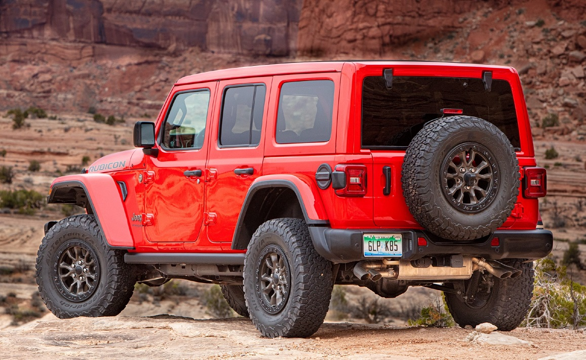 A rear-end view of the Rubicon 392