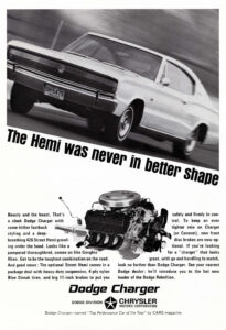 A 1966 print ad for the Dodge Charger