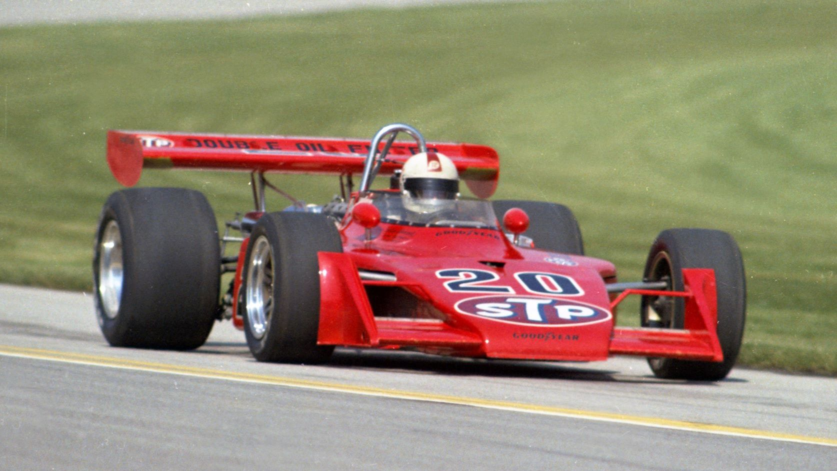 The 1973 Eagle driven by Gordon Johncock at the Indy 500.
