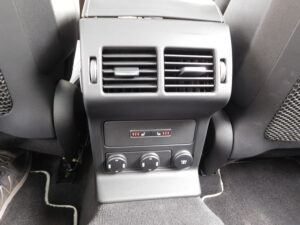 The back-seat console with temp controls