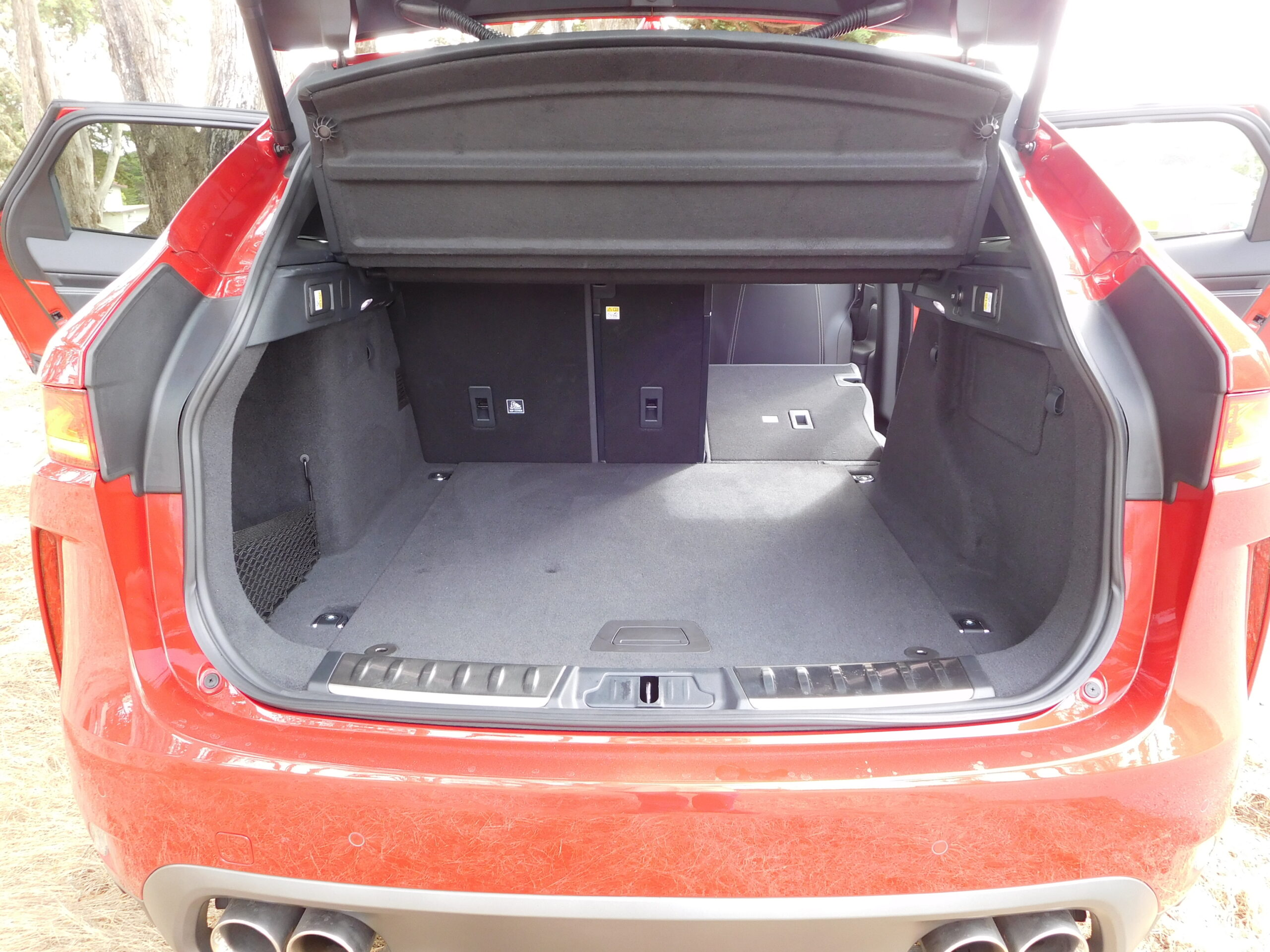 The open cargo space in the F-Pace