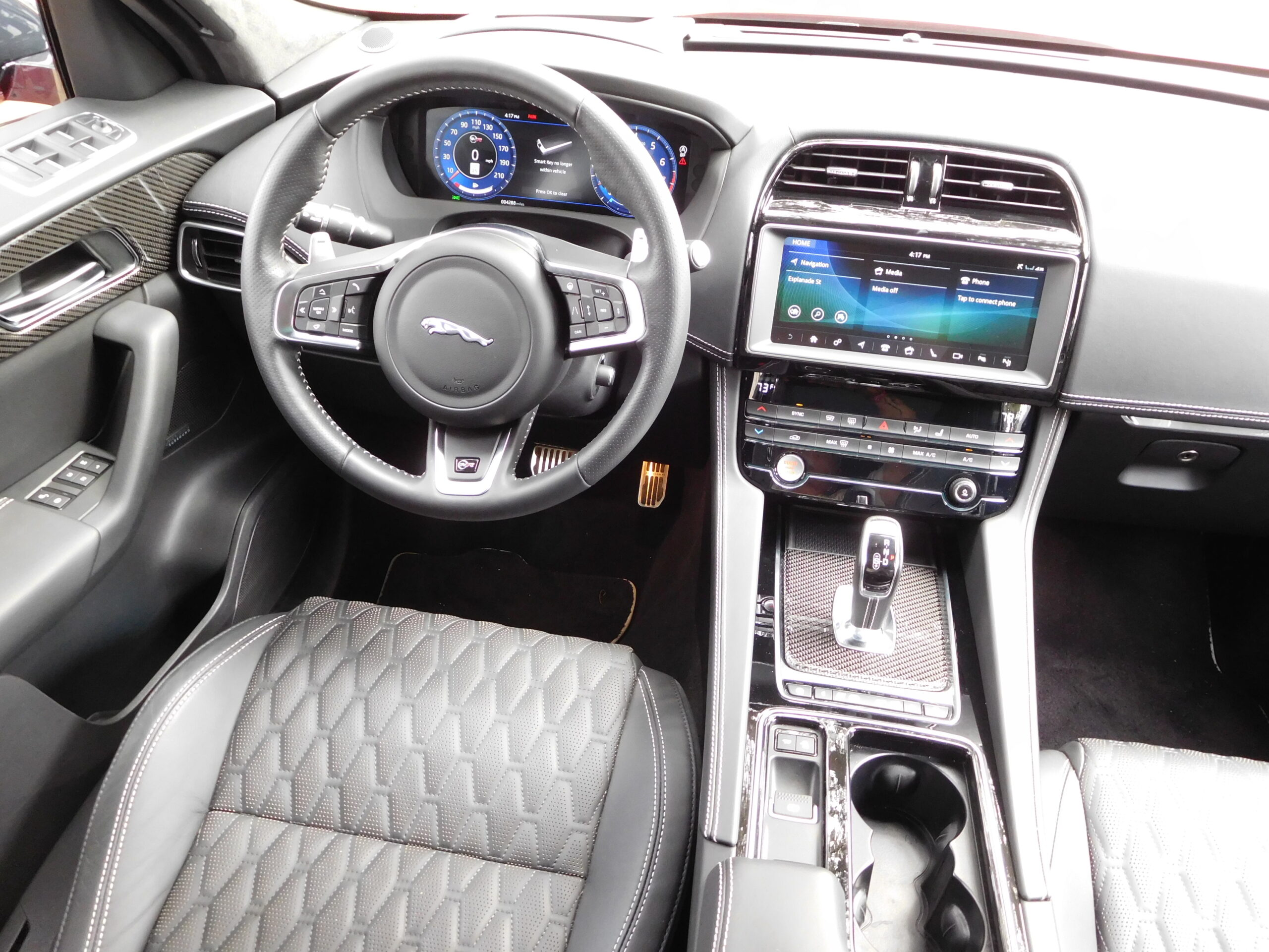 The driver's space in the F-Pace