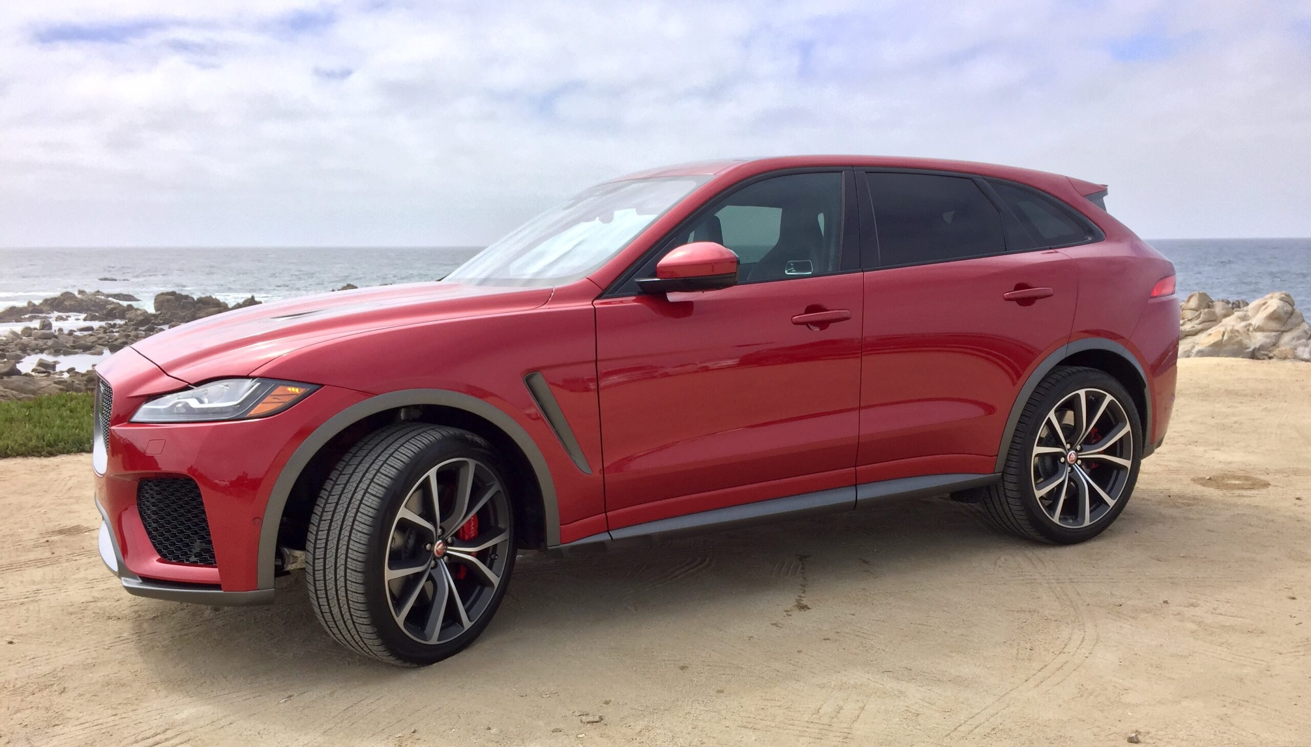 An exterior view of the F-Pace SVR