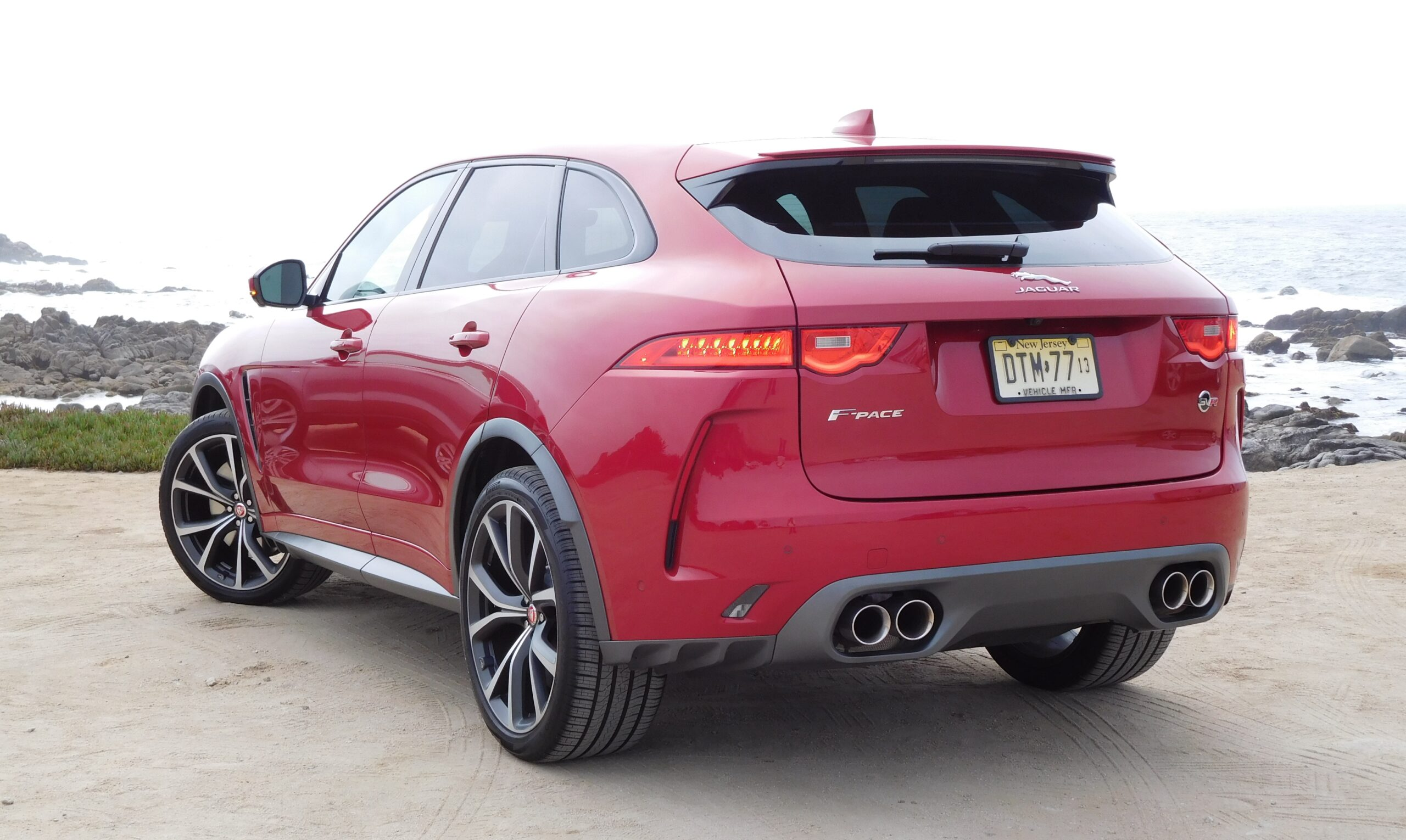A rear view of the F-Pace