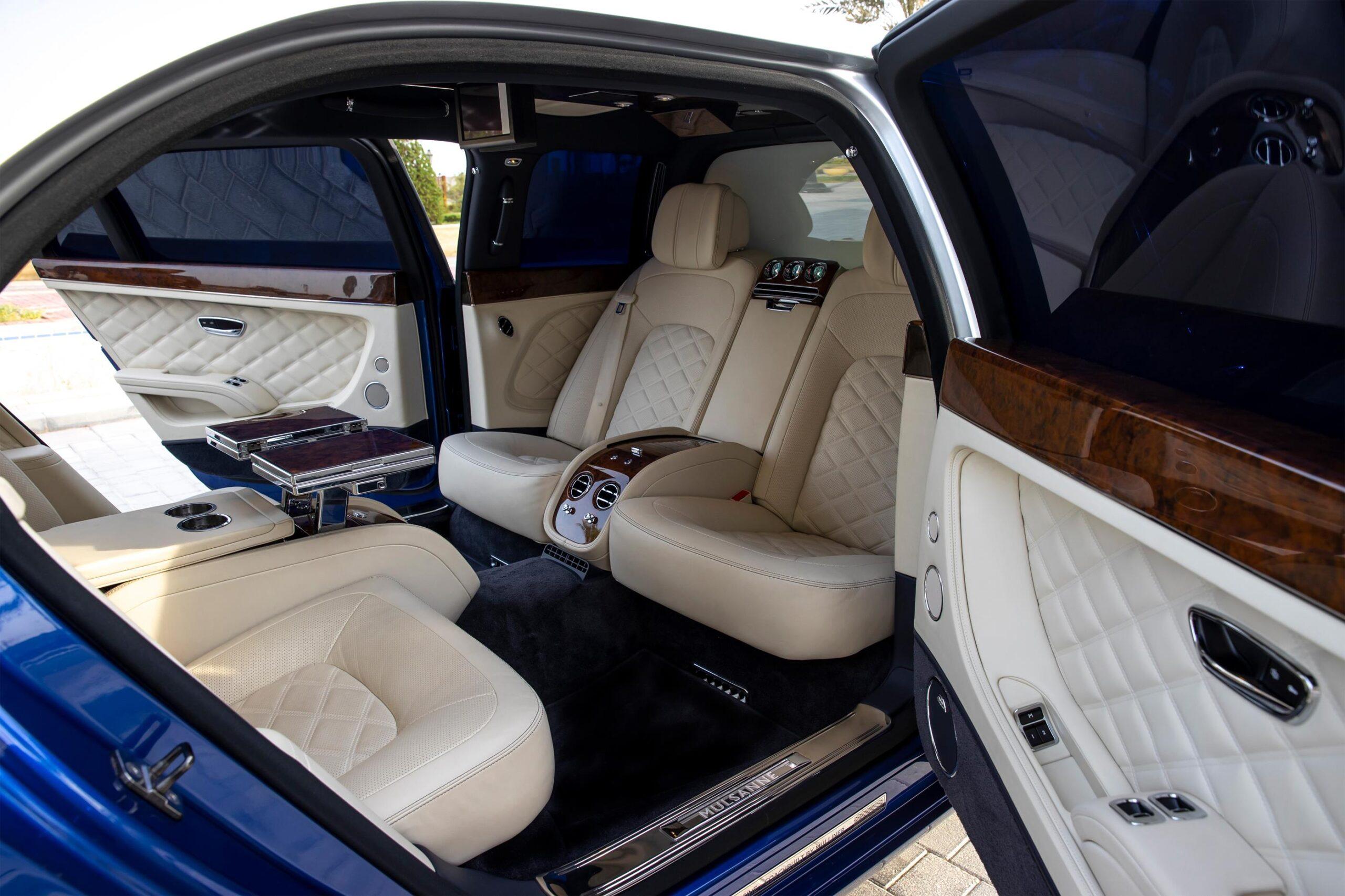 Mulsanne Grand Limousine forward-facing back Seats