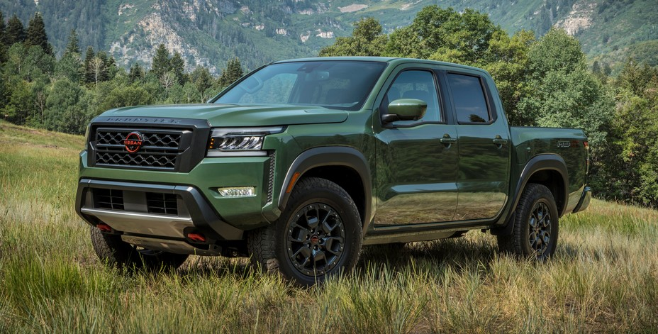 The redesigined 2022 Nissan Frontier pickup