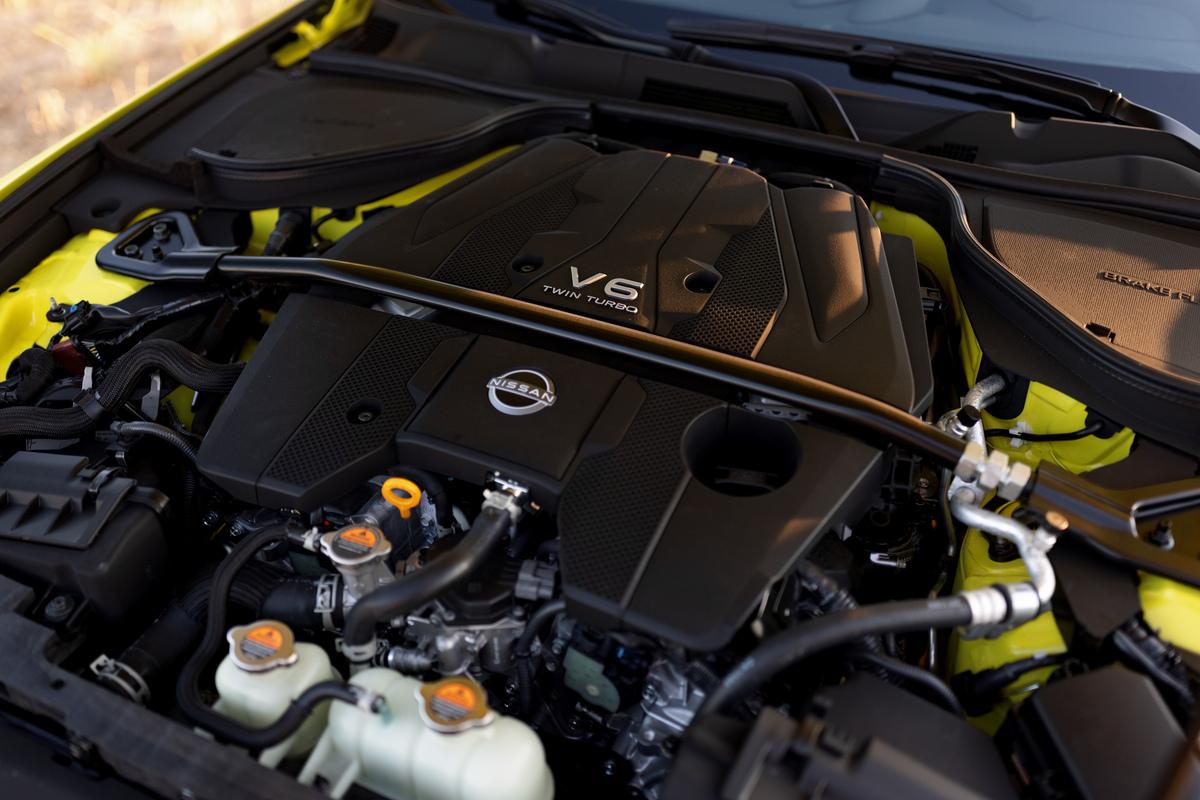 The 400 horsepower V6 in the new Z