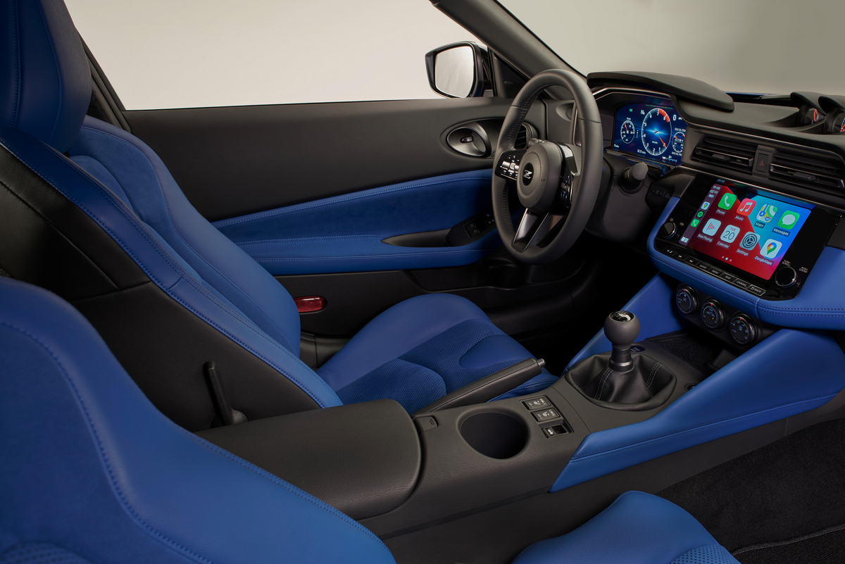 Red, black or blue interior colors