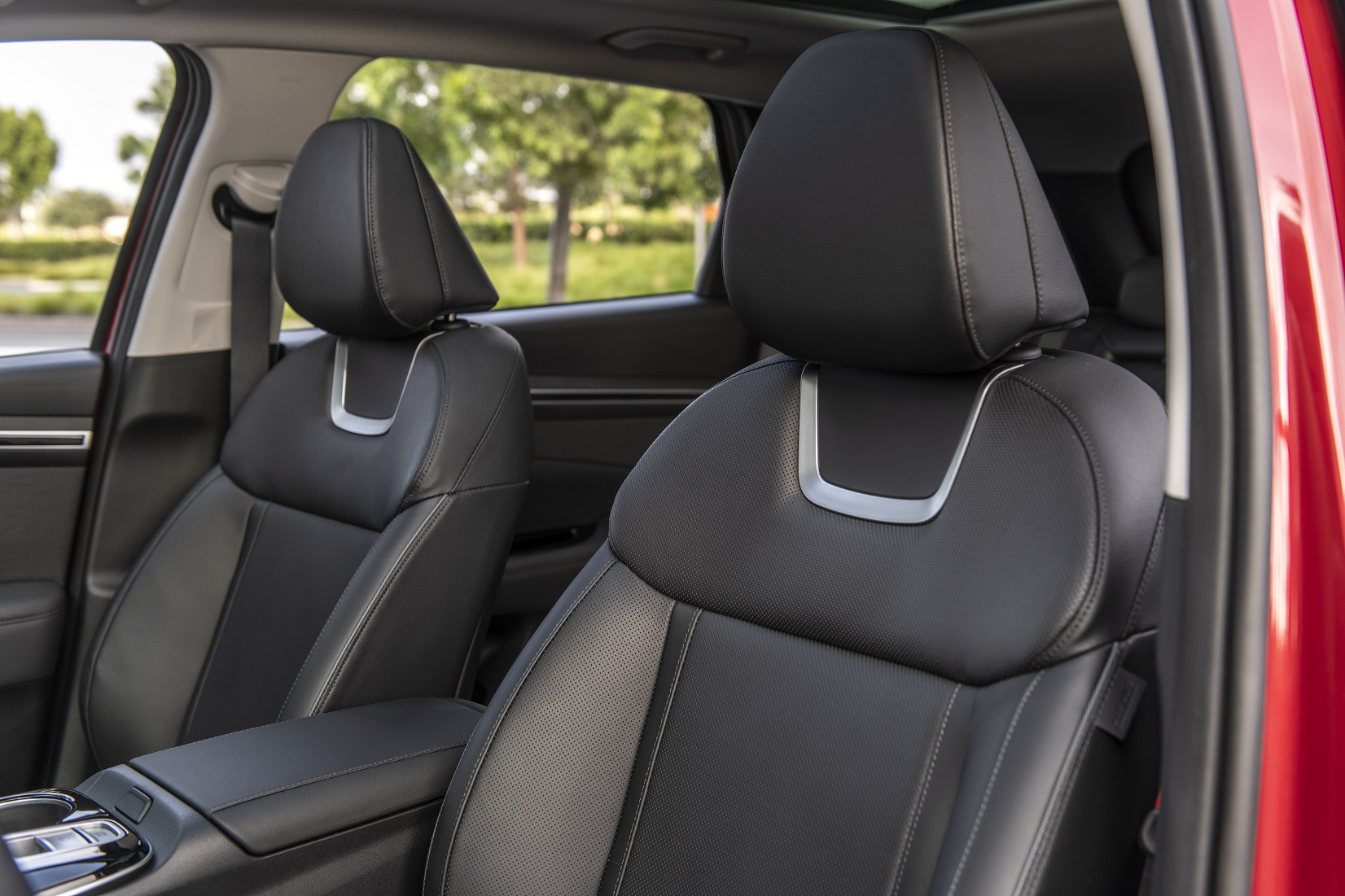 The hybrid model has heated and ventilated front seats