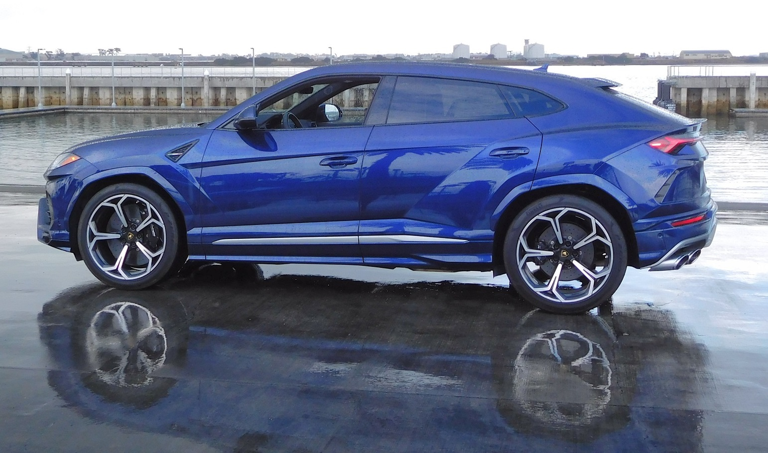 A side view of the Urus