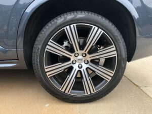 The 21-inch tires on the Volvo XC90