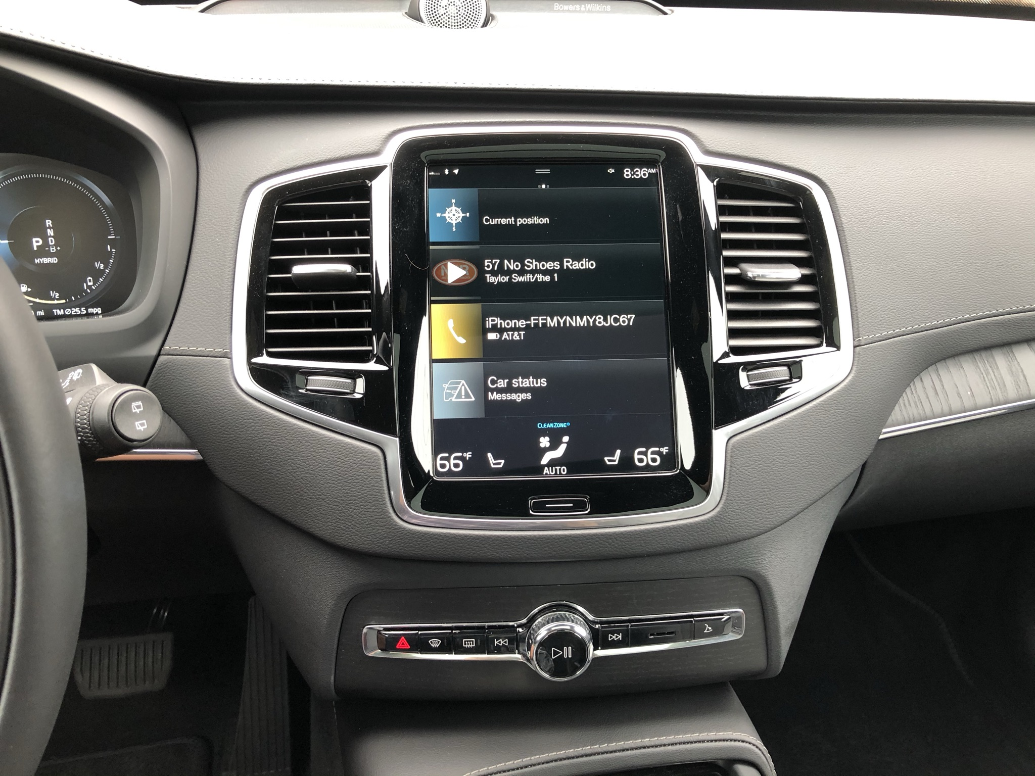 Volvo's 9-inch Sensus Connect touch screen