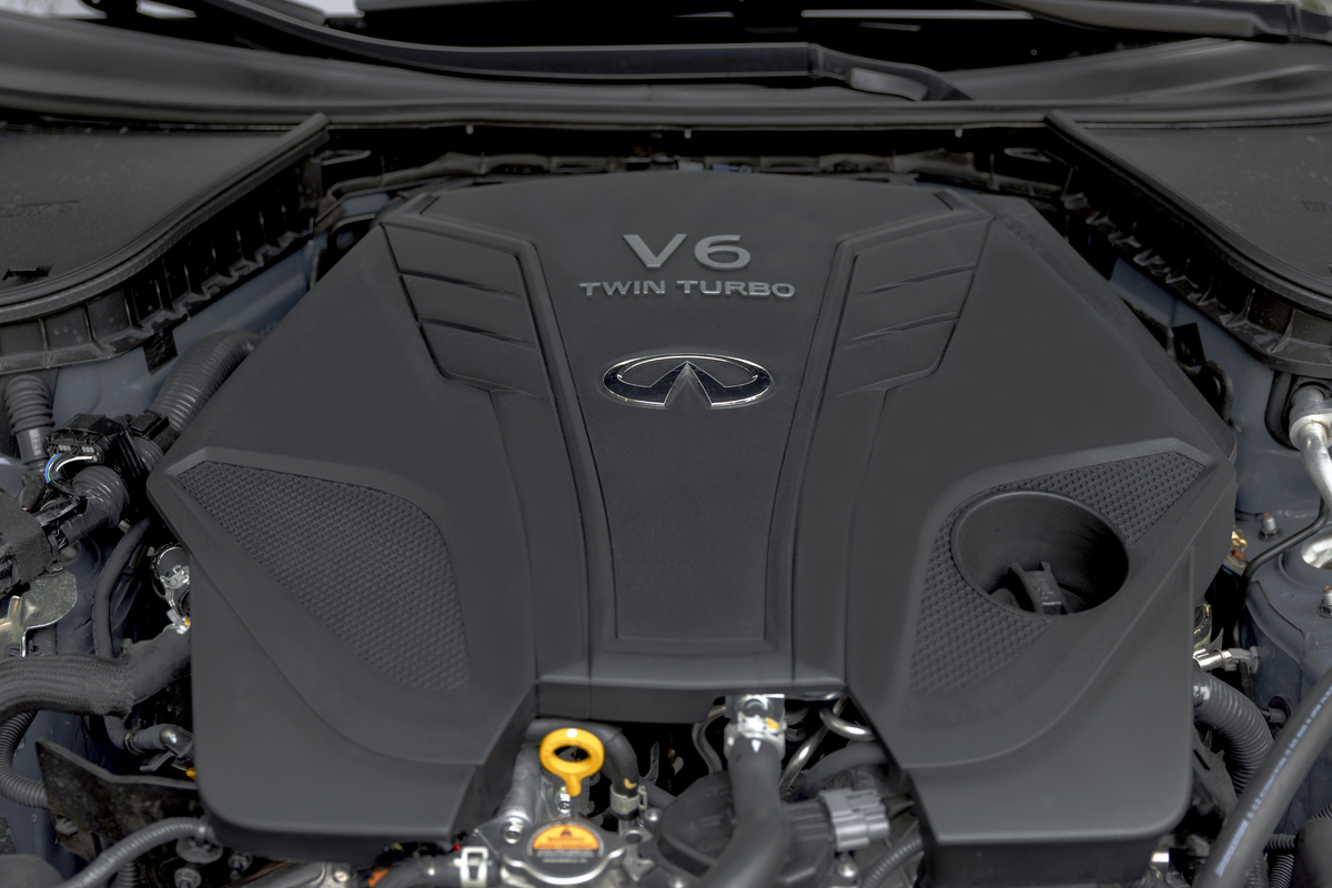 The V-6 engine in the Q50