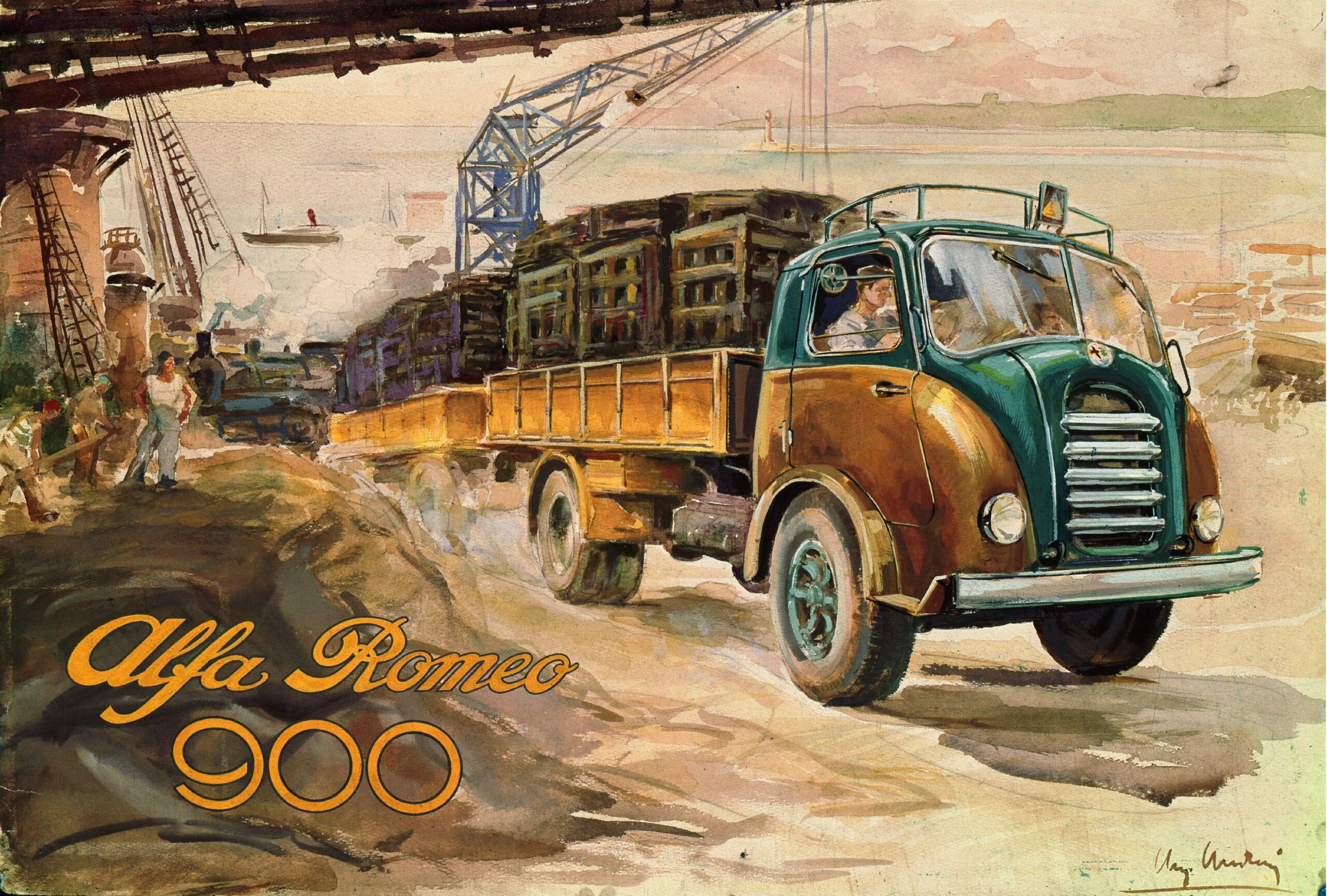The 1947 Alfa Romeo 900 commercial truck