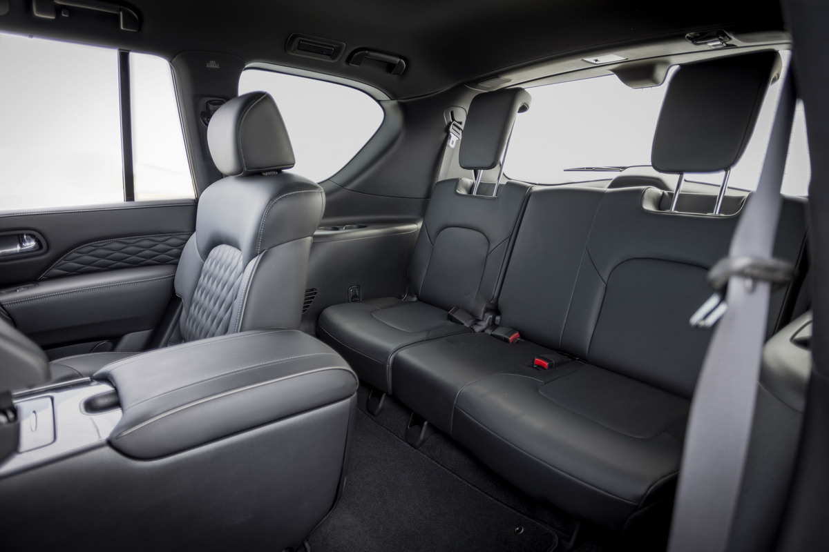 The third row of the QX80
